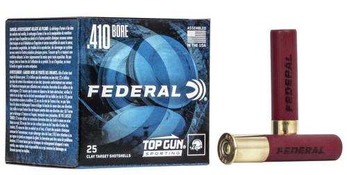 """Federal Top Gun High Brass .410 2 1/2"""", 1330FPS, 1/2oz, #9 25RD Per Box"""