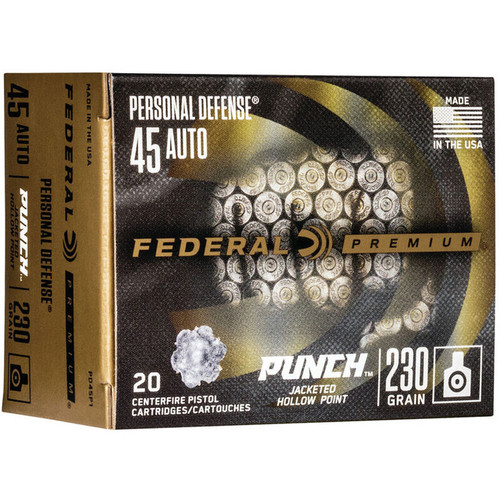 Federal Personal Defense 45 Auto Punch JHP 230GR 20 RD Box