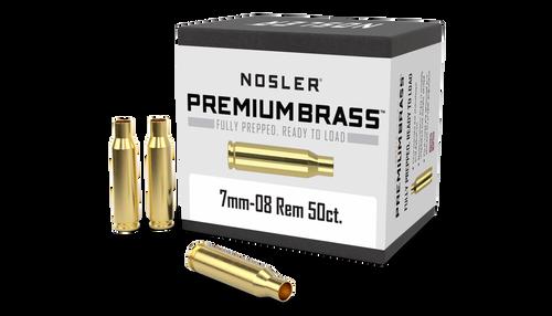 Nosler 7mm-08 Rem Premium Unprimed Brass 50 CT Per Box