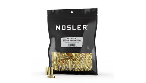 Nosler 300AAC Bulk Unprimed Brass 250CT Per Bag