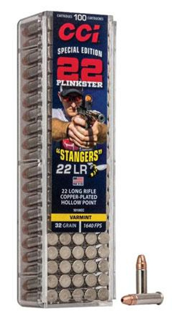 CCI Special Edition Stangers 22LR 32GR, Copper-Plated Hollow Point , 100RD Per Box