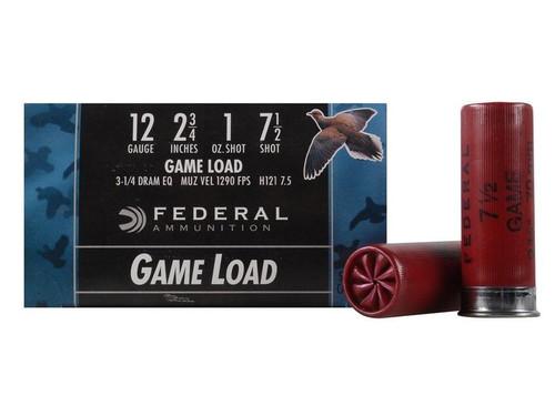 Federal Fast Game Load 12 Ga 2 3/4, 1oz, 1290FPS,3 1/4 Dram,#7.5, 25RD Per Box