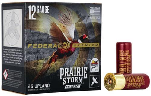 """Federal Prairie Storm FS Lead 12GA, 3"""" ,1350FPS, 1 5/8oz #6 25RD Per Box"""