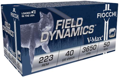 Fiocchi 223Rem V-Max 40GR, 3650FPS, 50RD Per Box