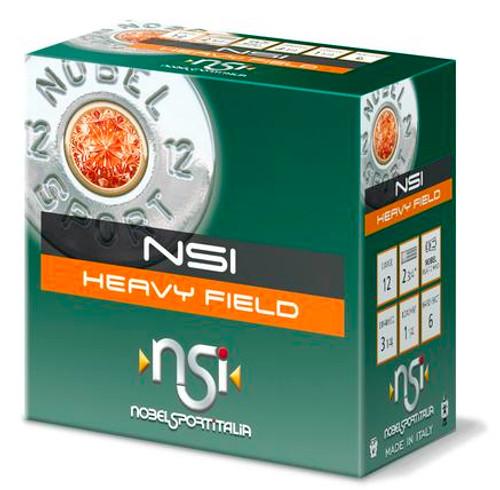 "Nobel Sport Heavy Field 20GA 2 3/4"", 2 1/2 ,Dram, 1oz, #6 25RD PER Box"