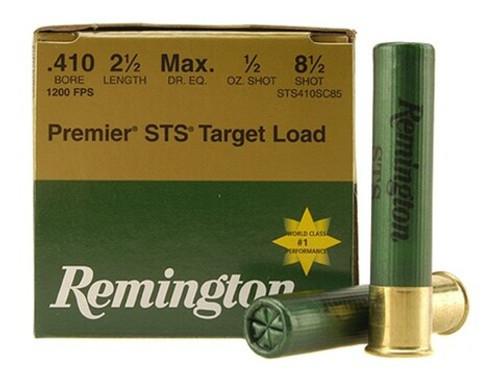 "Remington Premier STS Target .410, 2 1/2"", 1200FPS, 1 2/oz, #8.5 25RD Per Box"