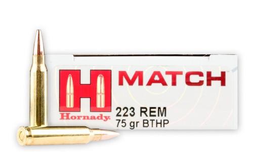 Hornady Match .223 Remington 75GR BTHP, 20RD