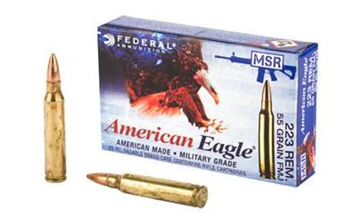 Federal American Eagle .223 Remington 55GR FMJ, 20RD