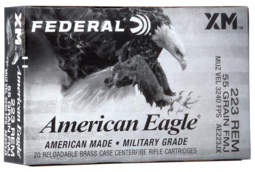 Federal American Eagle .223 Remington 55GR FMJ, 20RDs