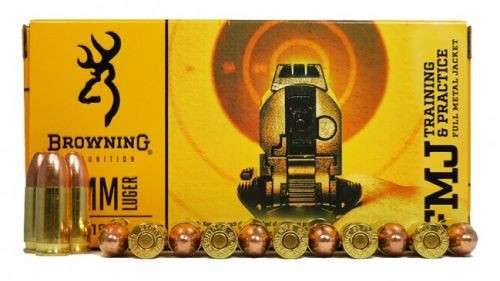 Browning Training & Practice 9mm Luger 115GR FMJ, 50RD