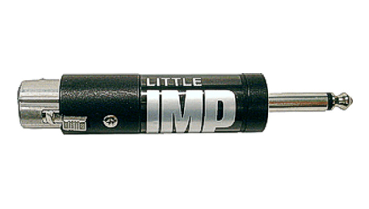 "Whirlwind Little IMP - Some mixers have 1/4"", unbalanced inputs designed for high impedance mics and won't accept standard balanced, low impedance microphones. This inline transformer with female XLR - 1/4"" TS plug is the solution for making that connection"