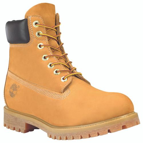 Timberland Mens 6-Inch Premium Waterproof Boots in Wheat Nubuck
