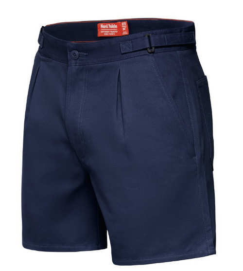 Yakka Y05340 Drill Shorts with Side Tabs in Navy