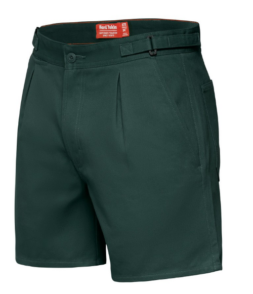 Yakka Y05340 Drill Shorts with Side Tabs in Green