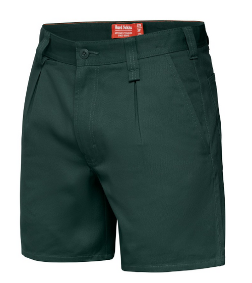 Yakka Y05350 Drill Shorts with Belt Loops in Green