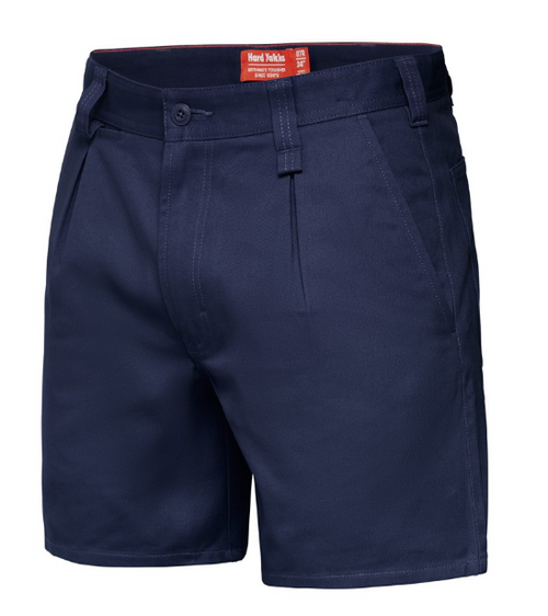 Yakka Y05350 Drill Shorts with Belt Loops in Navy