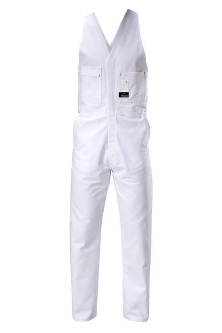 Yakka Tradesman Cotton Drill Action Back Overall White