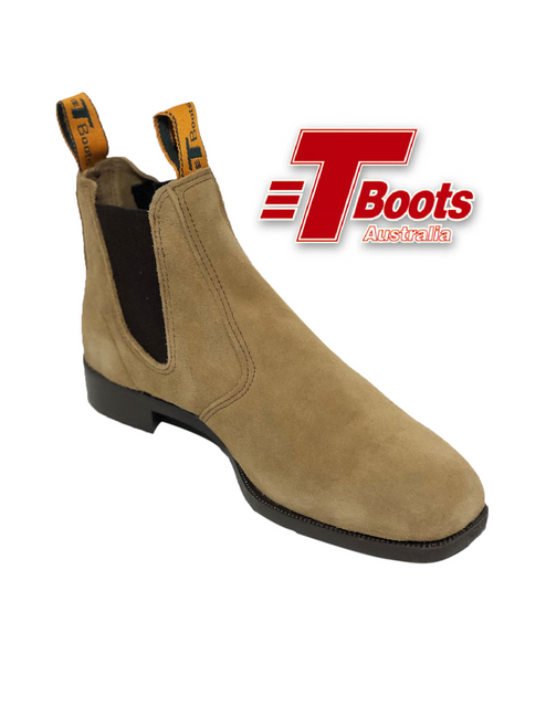T Boots Suede Elastic Side Work Boot B55-55