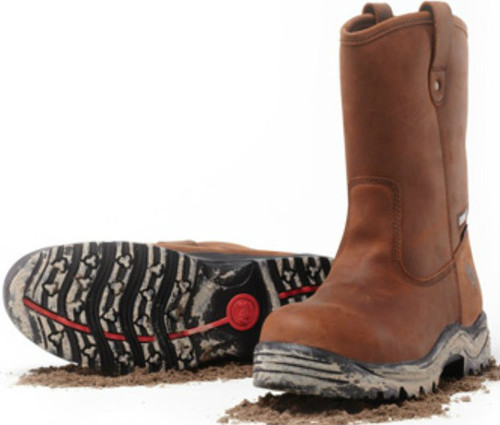 Mack Rigger 2 Safety Steel Toe Pull On Boots in Brown MKRIGGER2