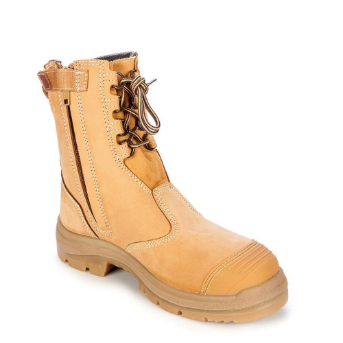 Oliver All Terrain Nubuck Leather Zip Side Safety Boot 55385