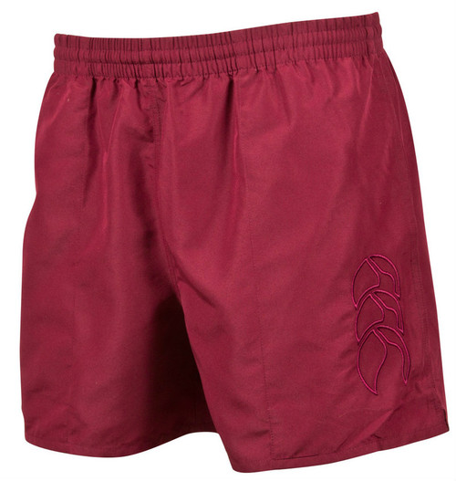 Canterbury Tactic Short with Tonal CCC Embroidery in Maroon