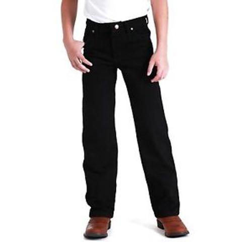 Wrangler 13MWBBK Kids Cowboy Cut Original Fit Jeans in Black - Sizes 8-16  (Bulk Deal, Buy 4 for $74.95 Each!)