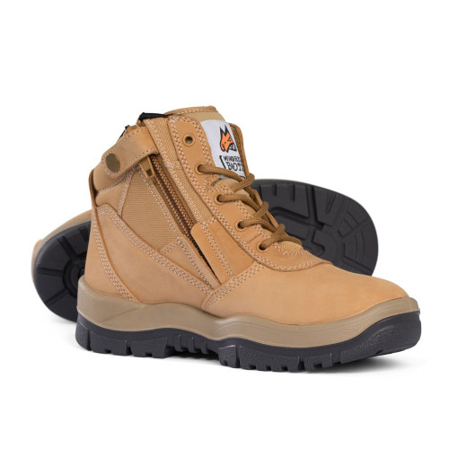 Mongrel Nubuck Zip Sided boots (Non Safety) in Wheat 961050