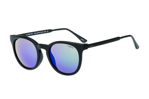 Liive Sunglasses Broadway Mirror Matt Black