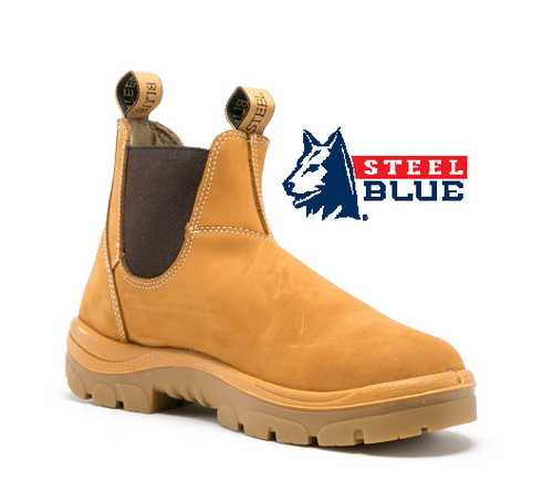 Steel Blue Hobart Elastic Side TPU/Non Safety Boots in Wheat 310101