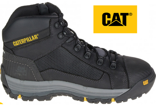 CAT Convex ST Steel Toe  Mid Boots in Black P720055 (Wide Fit)