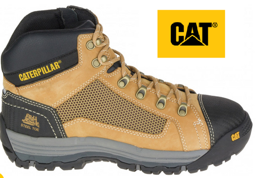 CAT Convex ST Steel Toe  Mid Boots in Honey P720053 (Wide Fit)