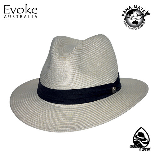 Evoke EV170 Simpson Fedora Hat Ivory