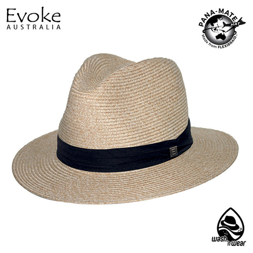 Evoke EV170 Simpson Fedora Hat Wheat