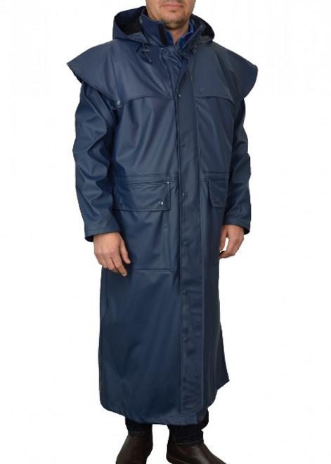 Thomas Cook Pioneer Long Raincoat in Navy