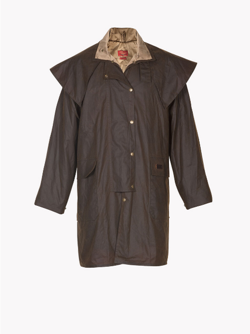 R.M. Williams Rouseabout Coat in Brown