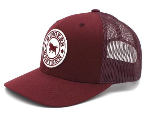 Ringers Western Burgundy with Burgundy & White Patch