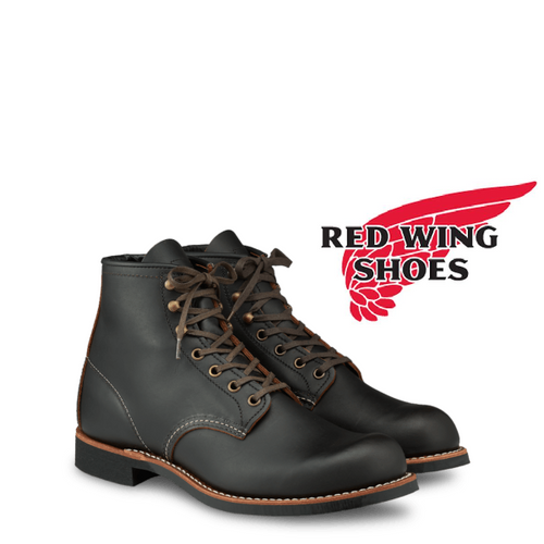 Redwing 3345 Blacksmith Black Prairie Lace-Up Boots