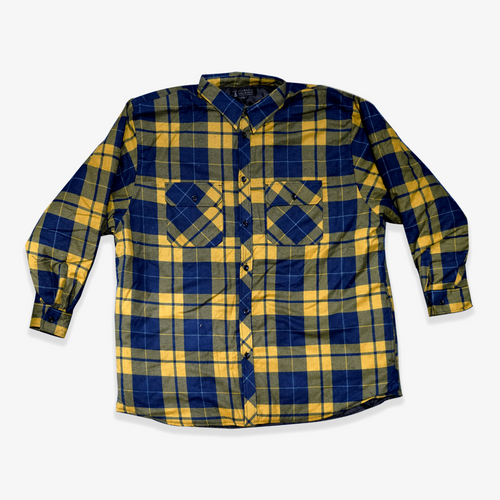 Ritemate Pilbara Quilted Flannelette Jacket in Yellow/Navy (Bulk Deal, By 4 or more, for $39.95 Each!)