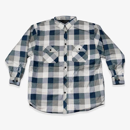 Ritemate Pilbara Quilted Flannelette Jacket in Blue/Grey/White (Bulk Deal, By 4 or more, for $39.95 Each!)