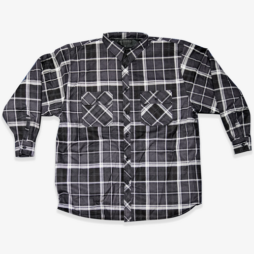 Ritemate Pilbara Quilted Flannelette Jacket in Charcoal/White (Bulk Deal, By 4 or more, for $39.95 Each!)