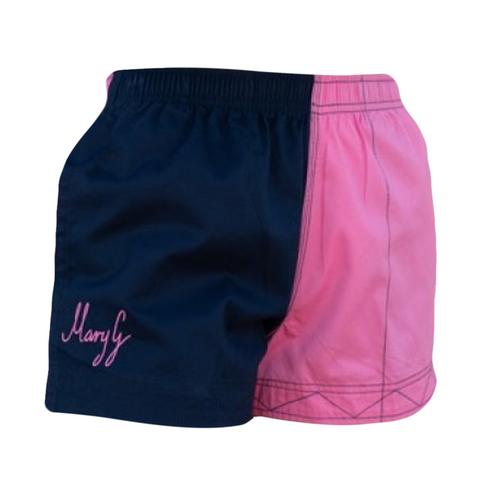 "Mary G Ladies ""Signature Range ""Old School"" - Harlequin Shorts - French Navy - Musk"