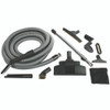 Complete Home Central Vacuum Accessory Kit with Chrome Telescopic Wand