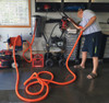 Commercial Hose Reel, 50 Foot Vacuum Hose, & Detailing Accessories for use with Shop Vacuums & Commercial Auto Detailer Vacuums