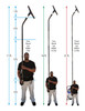 21 Foot High Reach Vacuum Attachment Kit with Carry Bag, Black