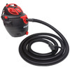 12 Ft. Commercial Grade Shop Vacuum Replacement Hose with Swivel End and Curved Handle
