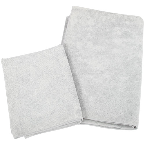 Microfiber 3-Pack Super Towel, 24 by 36-Inch, Gray