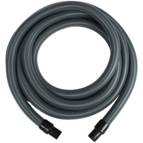 25 Foot Silver Varioflex Crushproof Vacuum Hose with 1.5 Inch Cuffs