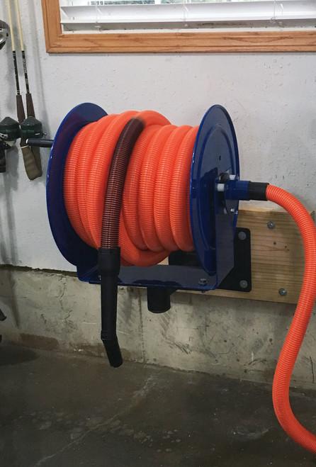 50 Foot Premium Garage Vacuum Kit With Hose Reel Cen Tec