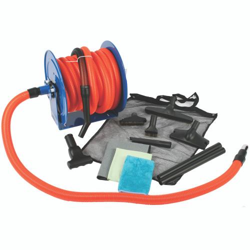 50 Ft. Premium Garage Vacuum Kit with Hose Reel