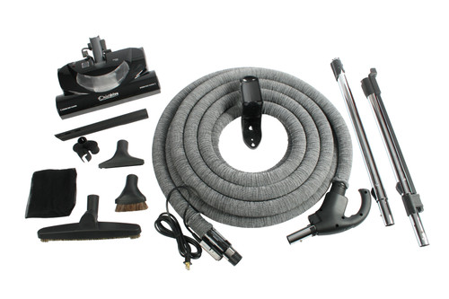 Central Vacuum Accessory Package Including CT20QD Electric Power Nozzle & 35 Foot Universal Total Control Hose